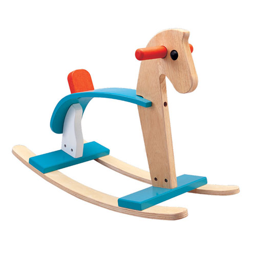 Drewniany konik na biegunach Plan Toys Arabian